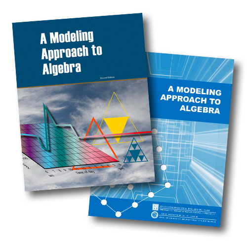 a modeling approach to algebra book cover graphics