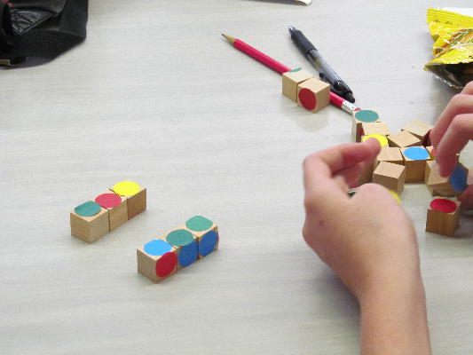 Students explore the Painted Cube problem