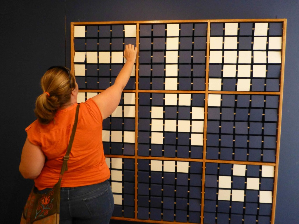interactive math art during museum visit